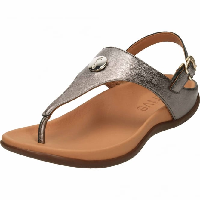 Strive Tropez Slingback Buckle Toe Post Leather Flat Comfort Sandals