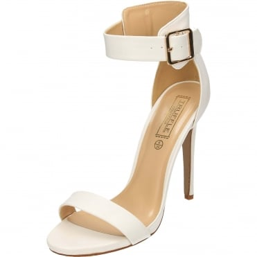 Ankle Strap Stiletto High Heel Peep Toe Sandals Shoes White