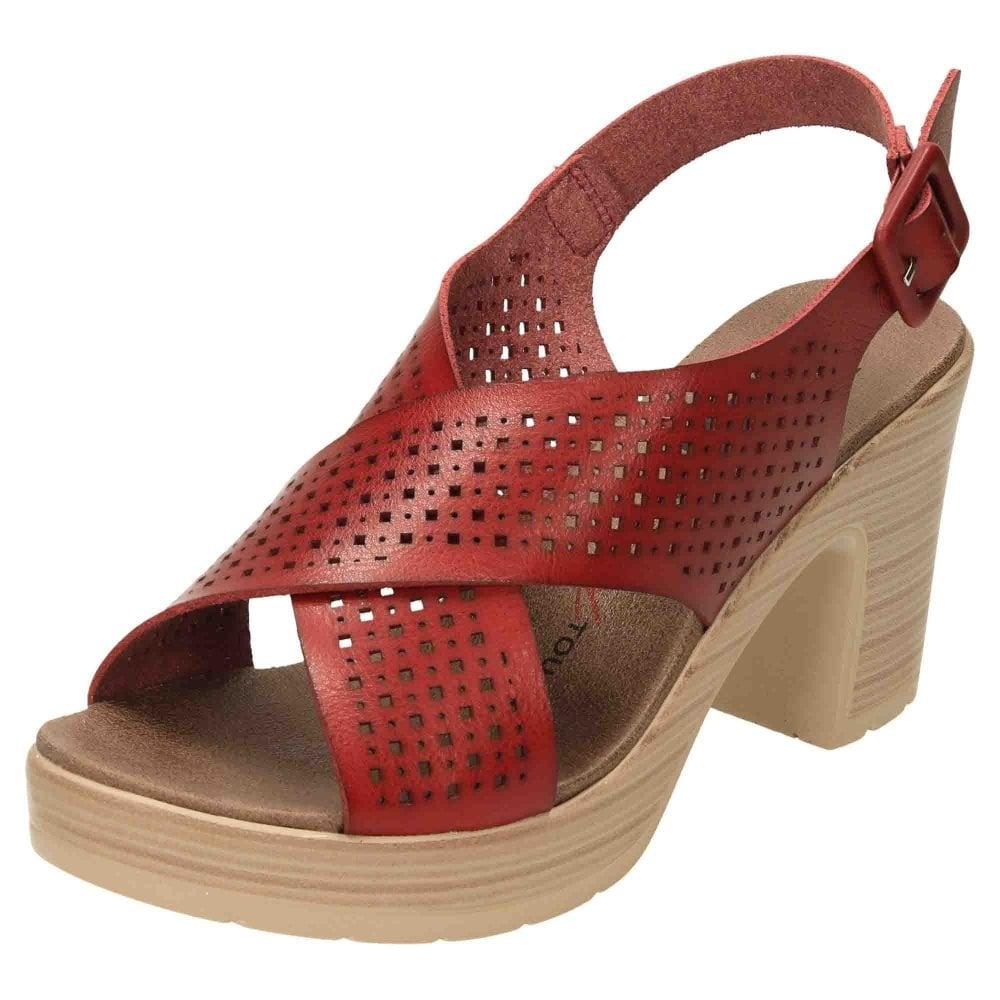 red block heel sandals uk